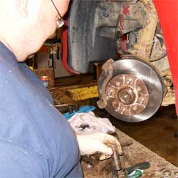 Ben adds a shiny new brake rotor